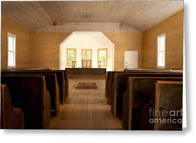 Gatlinburg Tennessee Greeting Cards - Primitive Baptist Church Greeting Card by Lena Auxier