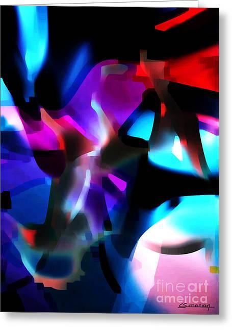 Primitive Digital Art Greeting Cards - Primitive5 Greeting Card by Christian Simonian