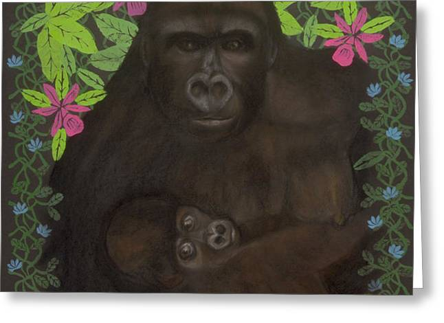 Primordial Spirit of Motherhood Greeting Card by Diana Perfect