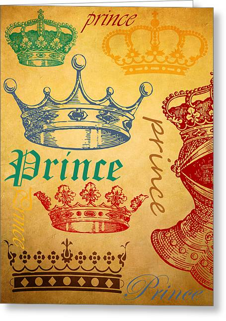 Knighted Mixed Media Greeting Cards - Prince 1 Greeting Card by Angelina Vick