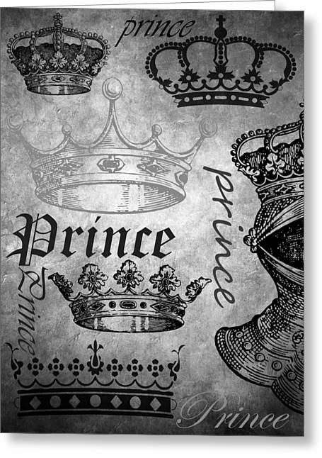 Knighted Mixed Media Greeting Cards - Prince 3 Greeting Card by Angelina Vick