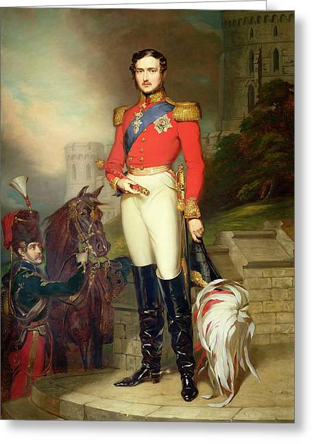 Full-length Portrait Paintings Greeting Cards - Prince Albert Greeting Card by John Lucas