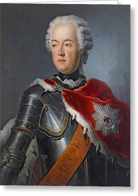 Royalty Greeting Cards - Prince Augustus William Oil On Canvas Greeting Card by Antoine Pesne