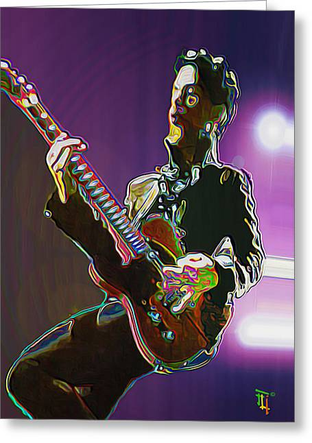 Head Digital Art Greeting Cards - Prince Greeting Card by  Fli Art