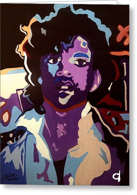 Prince Greeting Card by Chelsea VanHook