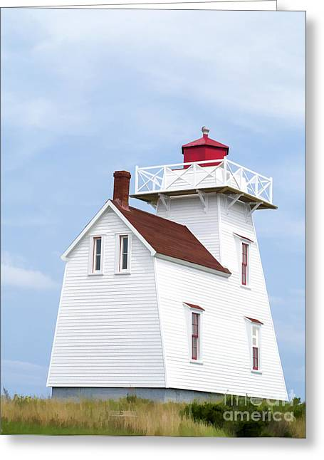 Keeper Greeting Cards - Prince Edward Island Lighthouse Greeting Card by Edward Fielding