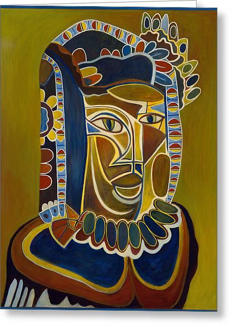 Birdseye Paintings Greeting Cards - Prince of Poseida Greeting Card by Nick Payne