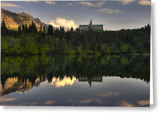 Historic Architecture Greeting Cards - Prince of Wales Reflection Greeting Card by Mark Kiver
