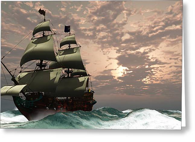 Schooner Greeting Cards - Prince William Ship Greeting Card by Corey Ford