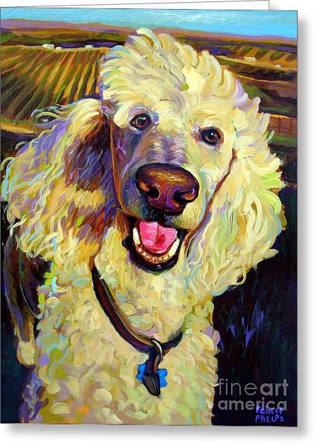 Robert Phelps Robert Phelps Art Greeting Cards - Princely Poodle Greeting Card by Robert Phelps