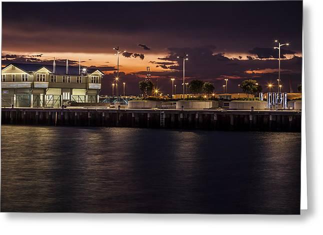 Princes Pier Gateway Greeting Card by Shari Mattox