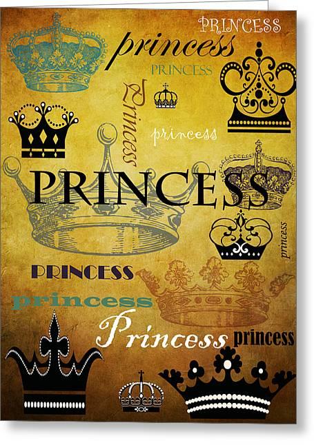Princess Mixed Media Greeting Cards - Princess 1 Greeting Card by Angelina Vick