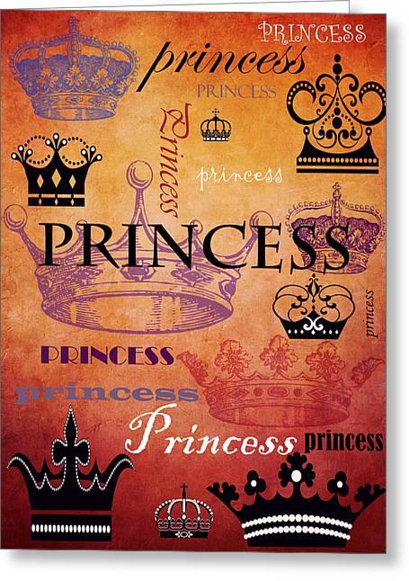 Princess Mixed Media Greeting Cards - Princess 2 Greeting Card by Angelina Vick