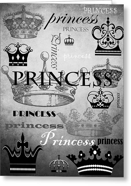Princess Mixed Media Greeting Cards - Princess 3 Greeting Card by Angelina Vick