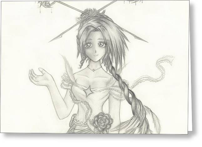 Graceful Drawings Greeting Cards - Princess Altiana Greeting Card by Shawn Dall