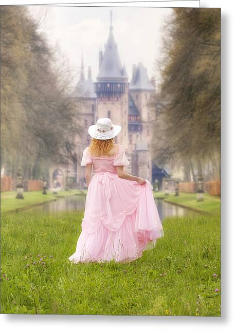 Vernal Greeting Cards - Princess And Her Castle Greeting Card by Joana Kruse