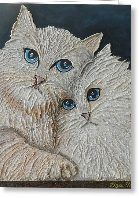 Animals Love Reliefs Greeting Cards - Princess and the Drifter Greeting Card by Liza Wheeler