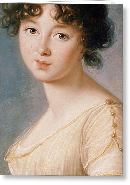 Chest Greeting Cards - Princess Aniela Angelique Czartoryska nee Radziwill Greeting Card by Elisabeth Louise Vigee-Lebrun