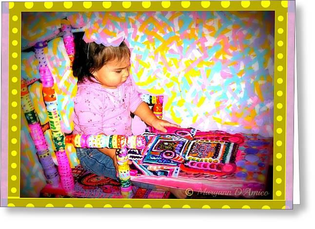 Princess Bella In the Original Magical Rocking Chair Greeting Card by Maryann  DAmico