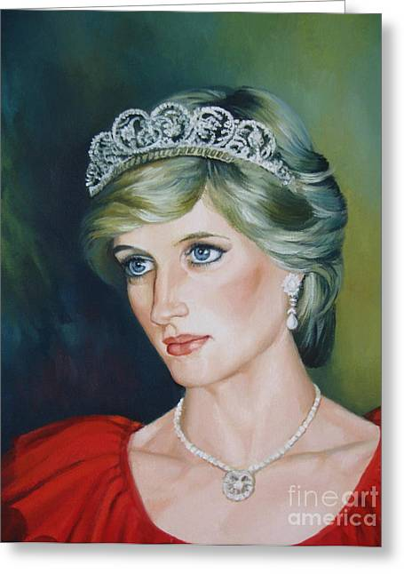 Best Sellers Greeting Cards - Princess Diana Greeting Card by Elena Oleniuc