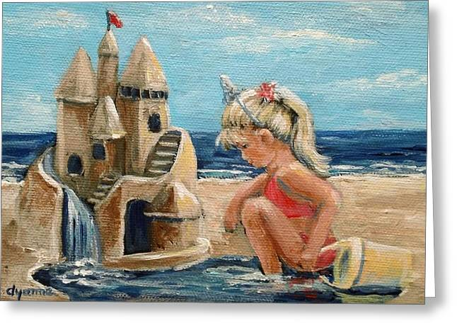 Sand Castles Greeting Cards - Princess Greeting Card by Dyanne Parker