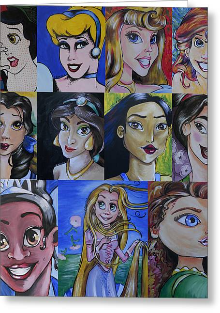 Princess-fine Art Mash-up Greeting Card by Lisa Leeman