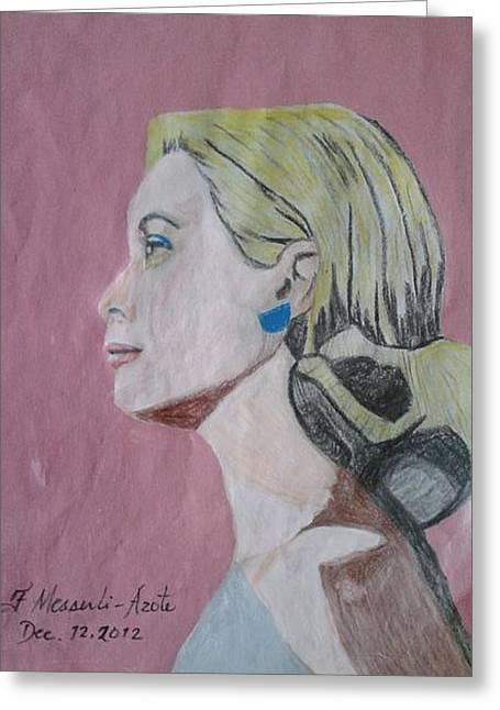 Princess Grace  Greeting Card by Fladelita Messerli-
