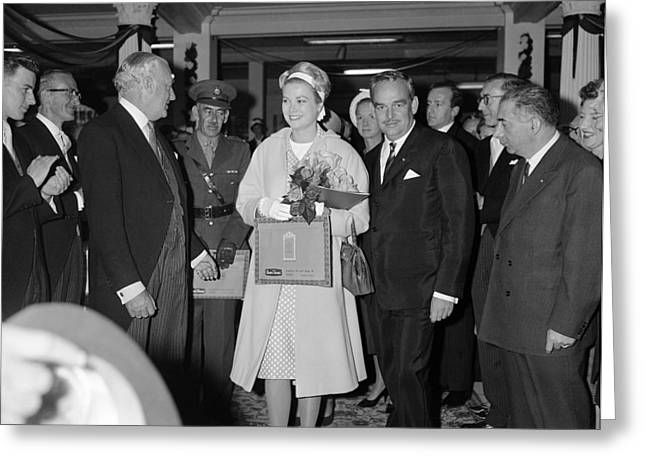 Princess Grace In Ireland 1961 Greeting Card by Irish Photo Archive