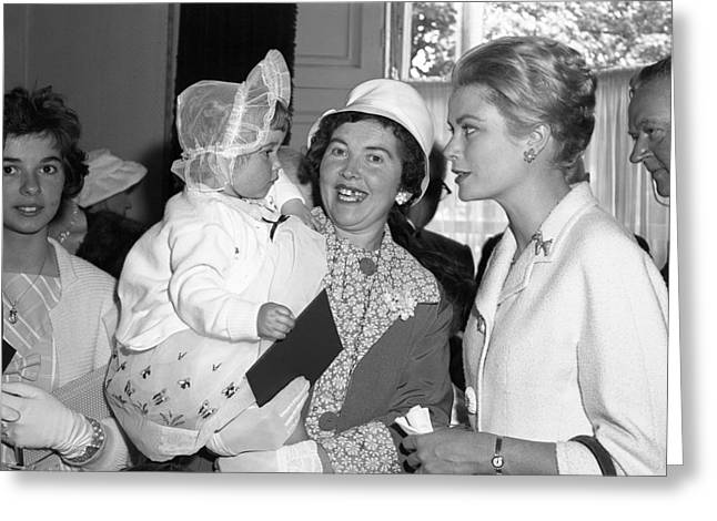 Princess Grace Of Monaco Visits Westport Greeting Card by Irish Photo archive