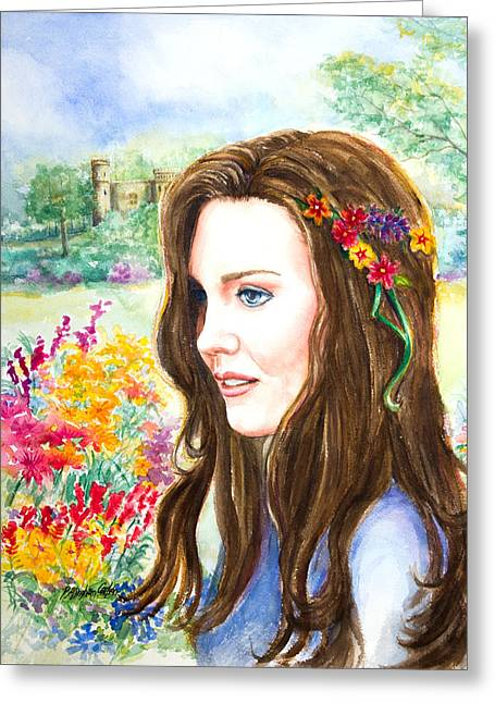 Royal Art Greeting Cards - Princess Kate Greeting Card by Patricia Allingham Carlson