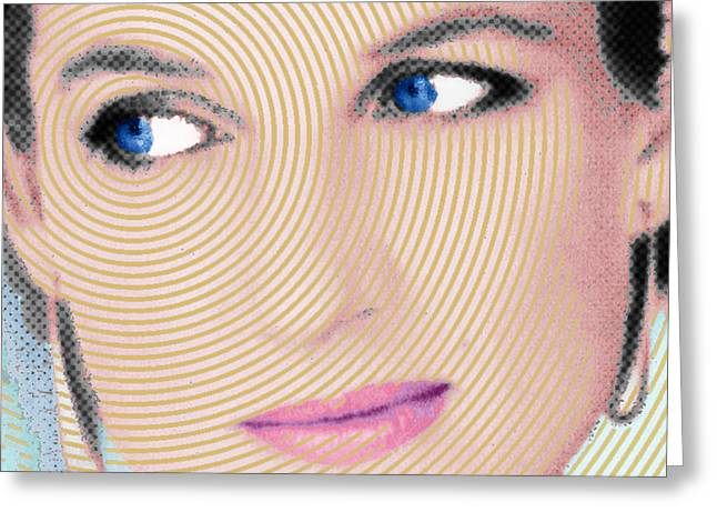 Royal Art Mixed Media Greeting Cards - Princess Lady Diana Square Greeting Card by Tony Rubino