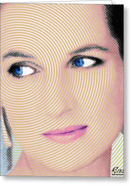 British Celebrities Mixed Media Greeting Cards - Princess Lady Diana Greeting Card by Tony Rubino