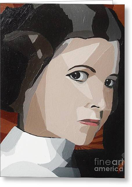 Star Alliance Greeting Cards - Princess Leia Greeting Card by Ellen Nicole Allen