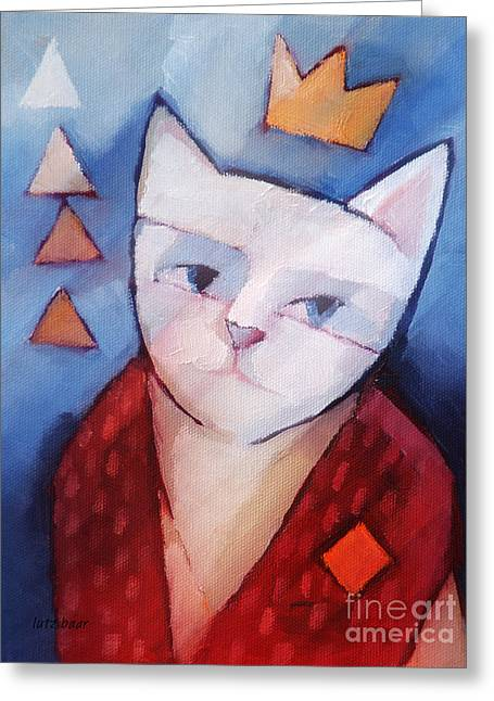 Cat Images Greeting Cards - Princess Greeting Card by Lutz Baar