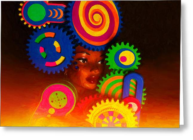 Imagination Greeting Cards - Princess Of The Sun Greeting Card by Jeff  Gettis