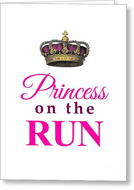 Runner Greeting Cards - Princess on the Run Greeting Card by Li Or