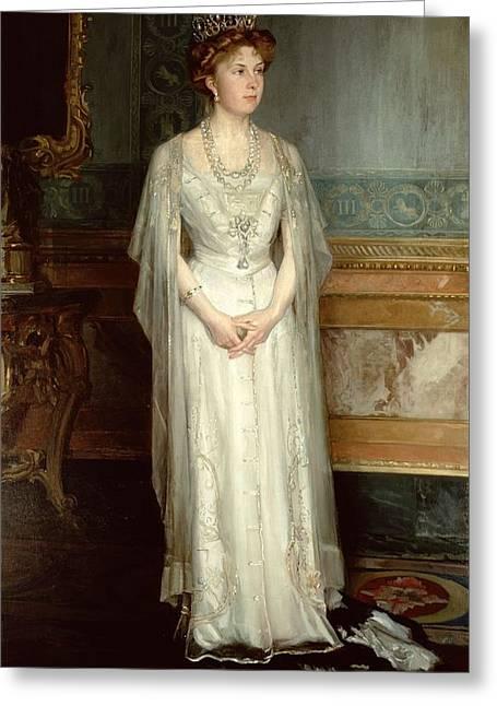 Tiara Greeting Cards - Princess Victoria Eugenie, Queen Of Spain Greeting Card by Luis Menendez Pidal