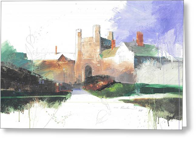 League Paintings Greeting Cards - Princeton Blair Hall Greeting Card by Stan Fellows
