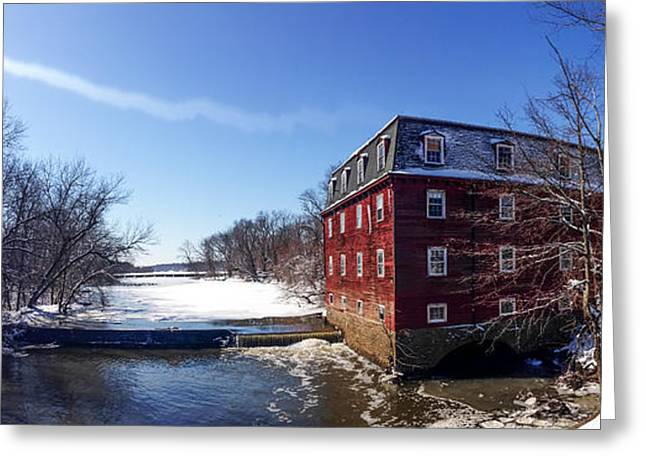 Kingston Digital Greeting Cards - Princeton New Jersey - Kingston Mill in Winter Greeting Card by Bill Cannon
