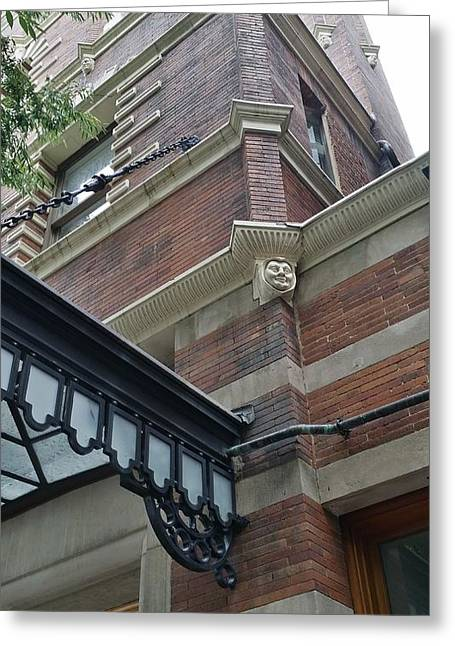 Streetview Greeting Cards - Princeton Stone Faces Greeting Card by Mark Victors
