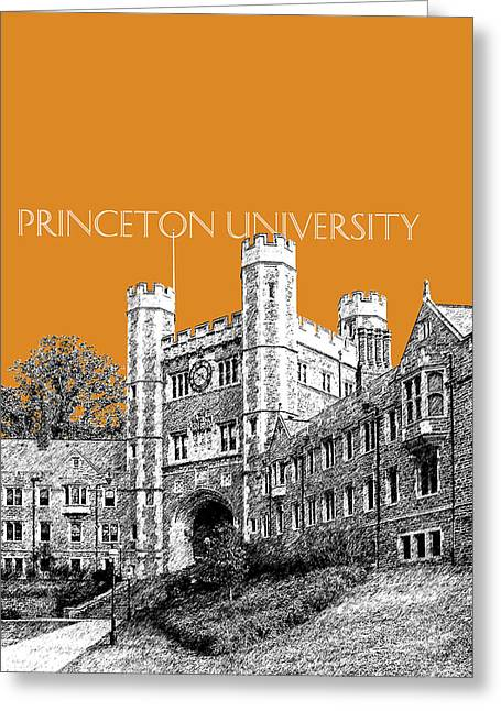 Blair Greeting Cards - Princeton University - Dark Orange Greeting Card by DB Artist
