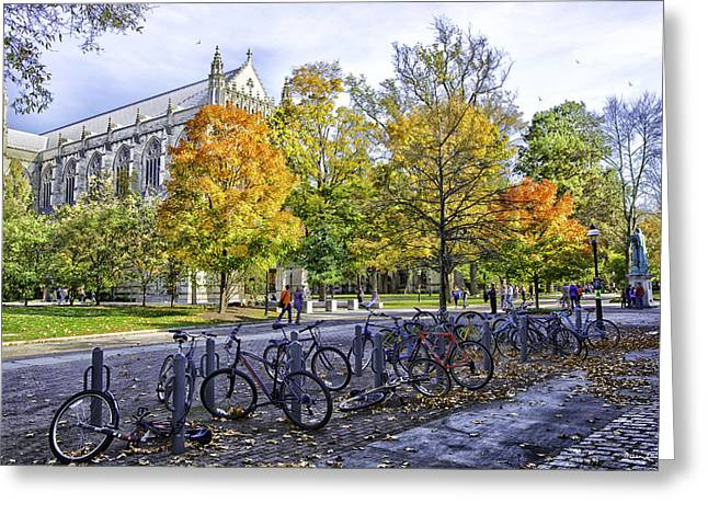 Madeline Ellis Greeting Cards - Princeton University Campus Greeting Card by Madeline Ellis