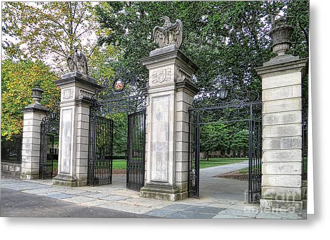Entry Greeting Cards - Princeton University Main Gate Greeting Card by Olivier Le Queinec