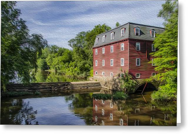 Millstone Greeting Cards - Princetons Kingston Mill Greeting Card by Bill Cannon