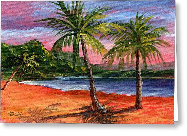 Princeville Kauai Greeting Card by Darice Machel McGuire