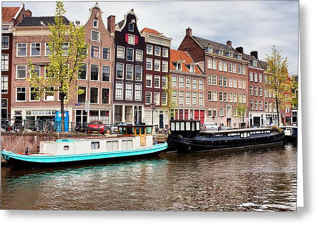 Old Home Place Greeting Cards - Prinsengracht Canal in Amsterdam Greeting Card by Artur Bogacki