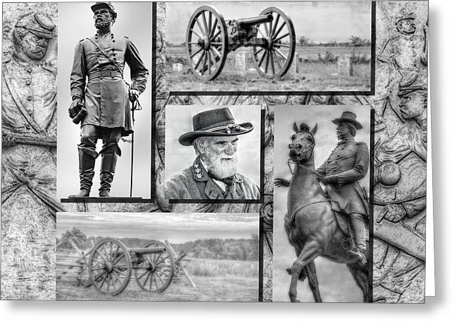 Confederate Monument Greeting Cards - Print Collection American Civil War Black and White Greeting Card by Randy Steele