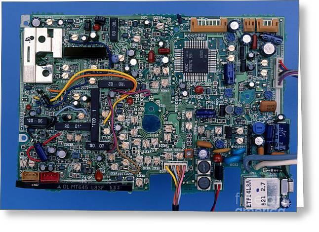 Printed Circuit Board Greeting Card by Hermann Eisenbeiss