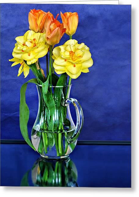 Bouquet Amaryllis Greeting Cards - Printemps Provencal Greeting Card by Nikolyn McDonald