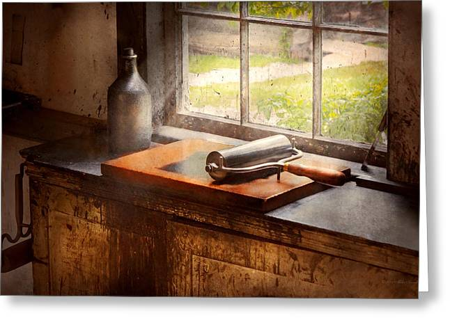 Glass Bottle Greeting Cards - Printer - A hope and a brayer Greeting Card by Mike Savad